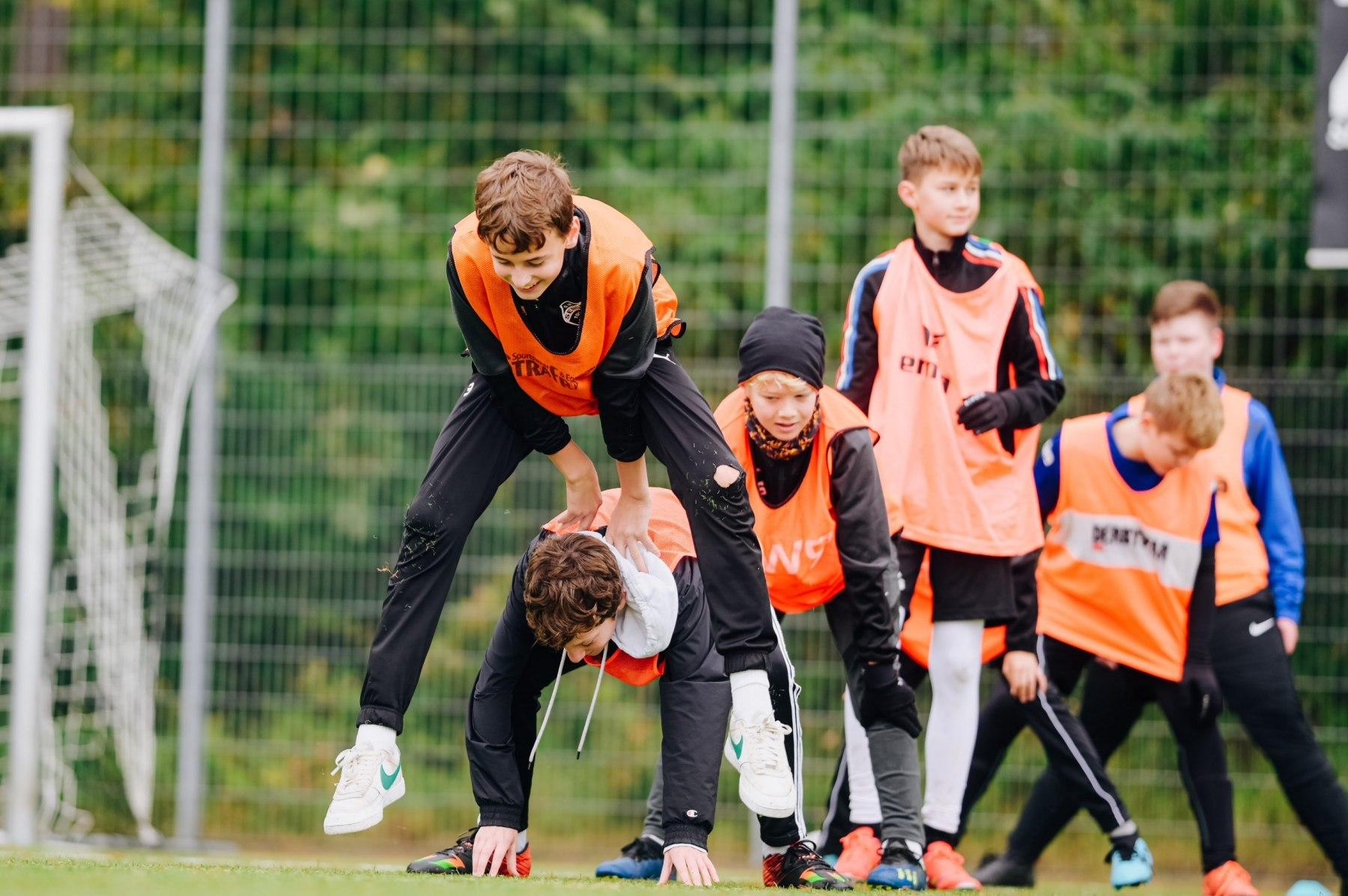 Fußballschule SW Sende, Herbstferien 2021. Foto: Besim Mazhiqi